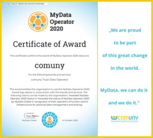 comuny Global Award MyData Operator
